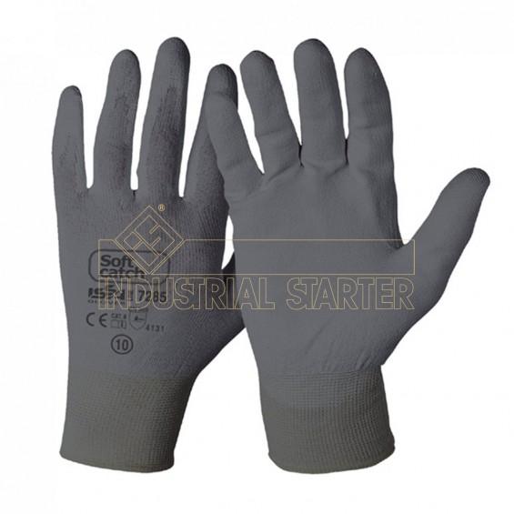 Zaščitne rokavice ISSA Soft Catch PU 07285 sive