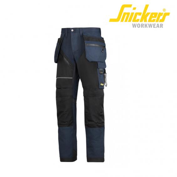 Hlače na pas SNICKERS RUFF WORK + 6202-9504 modra/črna
