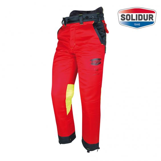 Gozdarske hlače na pas SOLIDUR AUTHENTIC razred 1