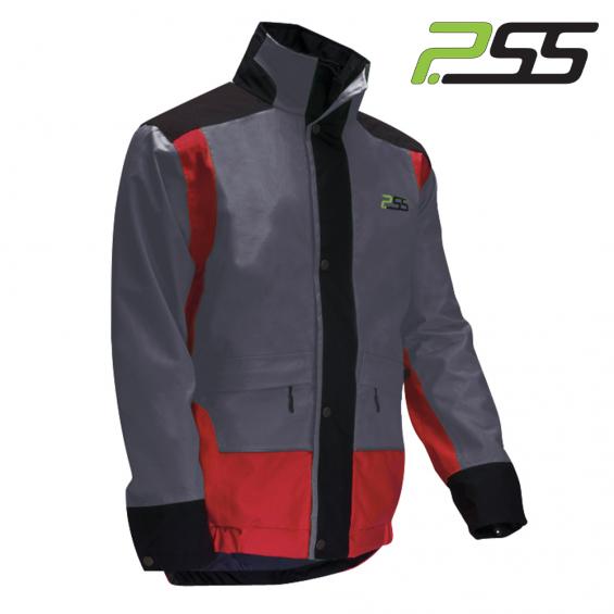 Gozdarska zaščitna jakna PSS X-treme Rain 701 rdeča/siva