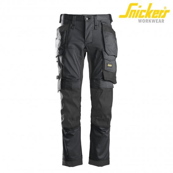 Delovne hlače na pas SNICKERS AllroundWork 6241-5804 siva/črna