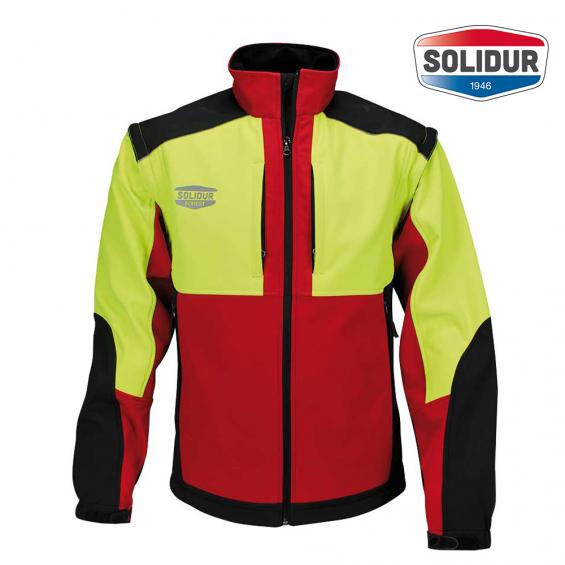 Delovna jakna SoftShell SOLIDUR INFINITY rdeča