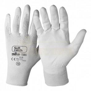 Zaščitne rokavice ISSA Soft Catch PU 07285 bele