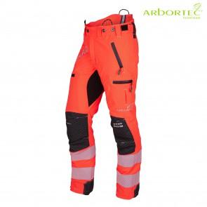 GOZDARSKE HLAČE ARBORTEC Breatheflex Pro AT4060-Hi-Viz oranžna
