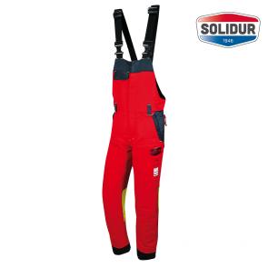 Gozdarske hlače z oprsnikom SOLIDUR AUTHENTIC razred 1