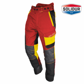 Gozdarske hlače na pas SOLIDUR COMFY razred 1