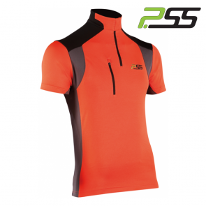 Gozdarska majica s kratkimi rokavi PSS X-treme Skin 906 črna/oranžna