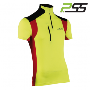 Gozdarska majica s kratkimi rokavi PSS X-treme Skin 806 rumena/rdeča