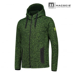 Jakna lahka flis s kapuco MACSEIS RIPTIDE LIGHT black/green