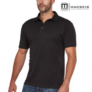 Polo majica MACSEIS SIGNATURE black/grey