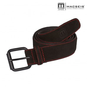 Usnjeni pas MACSEIS black/red