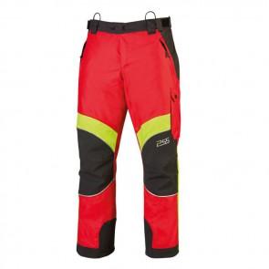Gozdarske zaščitne hlače PSS X-treme Rain 811 rdeča/rumena