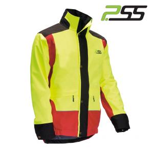 Gozdarska zaščitna jakna PSS X-treme Rain 801 rdeča/rumena