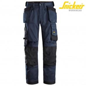 Delovne hlače na pas SNICKERS AllroundWork 6251-9504 temno modra