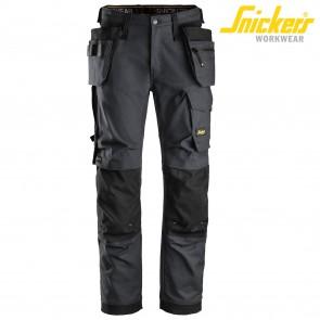 Delovne hlače na pas SNICKERS AllroundWork 6270-5804-siva/črna