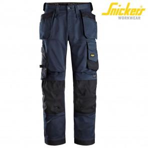Delovne hlače na pas SNICKERS AllroundWork 6270-9504-temno modra