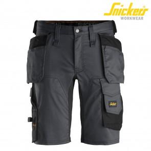 Kratke hlače SNICKERS AllroundWork 6141-5804 siva/črna