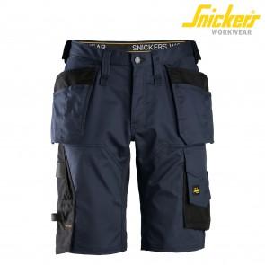 Kratke delovne hlače SNICKERS AllroundWork 6151-9504 temno modra/črna