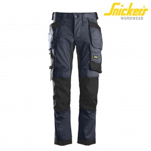 Delovne hlače na pas SNICKERS AllroundWork 6241-9504 temno modra