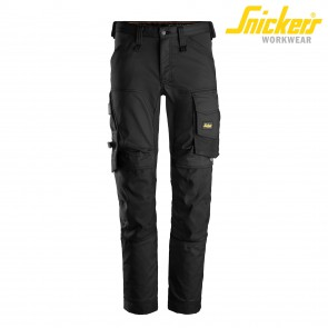 Delovne hlače na pas SNICKERS AllroundWork 6341-0404 črna
