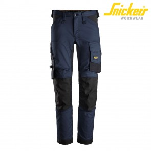 Delovne hlače na pas SNICKERS AllroundWork 6341-9504 navy/črna