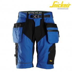 Kratke delovne hlače SNICKERS FlexiWork 6904-5604 modra/črna