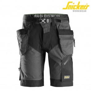 Kratke delovne hlače SNICKERS FlexiWork 6904-5804 steel grey