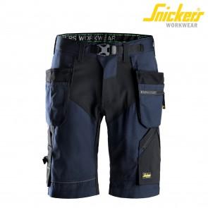 Kratke delovne hlače SNICKERS FlexiWork 6904-9504 modra/črna