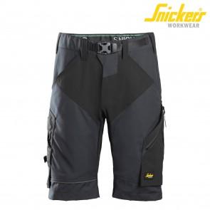 Kratke delovne hlače SNICKERS FlexiWork 6914-5804 siva/črna