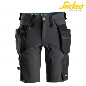 Kratke delovne hlače SNICKERS LiteWork 6108-5804 siva/črna