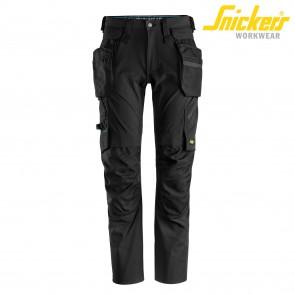 Delovne hlače na pas SNICKERS LiteWork 6208-0404 črne