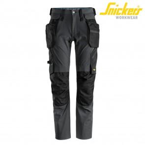 Delovne hlače na pas SNICKERS LiteWork 6208-5804 siva/črna