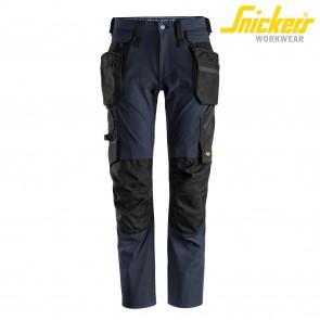 Delovne hlače na pas SNICKERS LiteWork 6208-9504 temno modra
