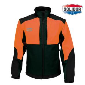 Delovna jakna SoftShell SOLIDUR INFINITY oranžna