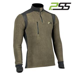 Gozdarska majica PSS X-treme Polar 505 črna/lovsko zelena